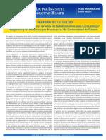NLIRH FactSheet GenderedCare SpanFINAL 2 Genero