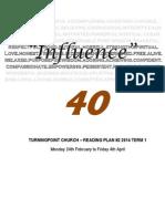 Influence 40 Reading Plan