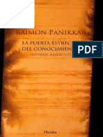 Panikkar Raimon - La Puerta Estrecha Del Conocimiento.pdf