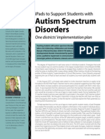 iPads to Support Students With Autism Spectrum Disorders