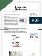 Txapuzas Blogspot Com Es 2011 10 Paperrobot Chasis Para Robo