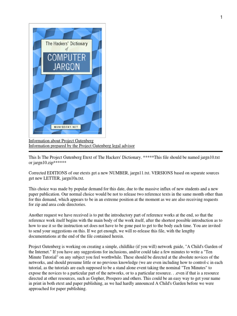 The hackers dictionary ebook computing technology fandeluxe Gallery