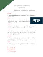 Exercícios Distribuição Binomial