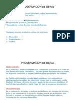Programacion de Obras