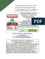 Apostila Digital Concurso Petrobrás - Técnico de Operação Júnior  Gratis Baixar download 2009 2010