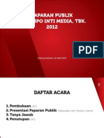Paparan Publik PT Tempo Inti Media Tbk 2012
