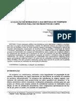 avaliação microbiológica em temperos prontos