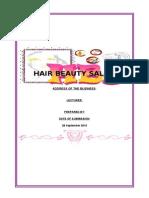 Business Plan Hair Salon