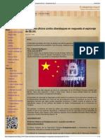 China Crea Oficina Contra Ciberataques en Respuesta Al Espio
