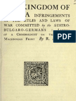 The Kingdom of Serbia ; Infringements of the Rules and Laws of War Committed by the Austro-Bulgaro-Germans ; Letters of a Criminologist on the Serbian Macedonian Front (1919.God.) -Rodolphe Archibald Reiss