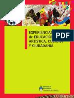 LIBRO EXPERIENCIAS en educación artistica y ciudadana