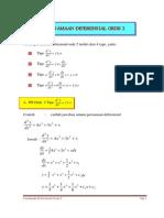 Persamaan Diferensian Orde 2