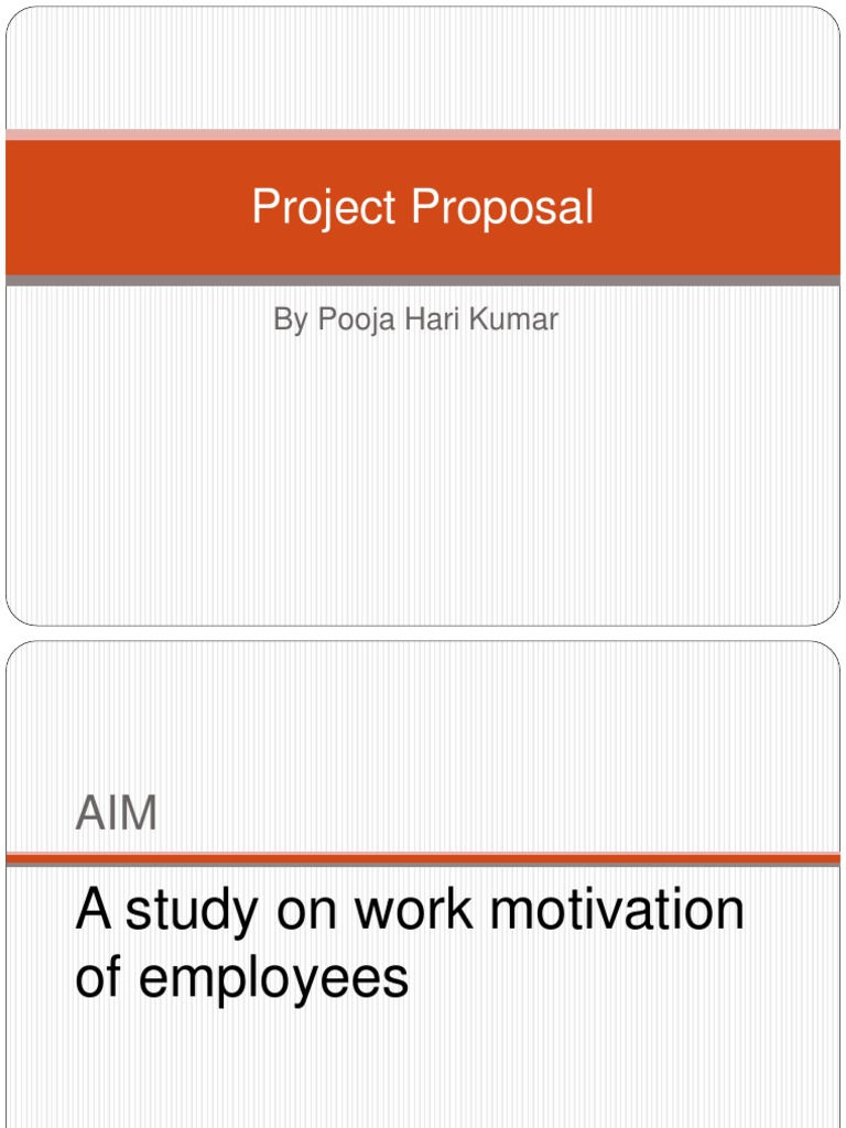 project proposal on employee motivation