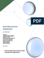 Monografía Materiales ALUMINIO