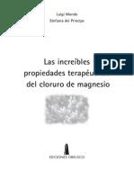 Las increíbles PROPIEDADES TERAPEUTICAS DEL CLORURO DE MAGNESIO