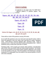 Patterns of Qustion Papers