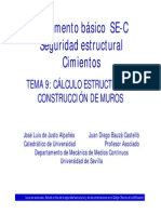 TEMA 9 - CÁLCULO ESTRUCTURAL DE MUROS