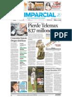 El Imparcial Primera Plana y página 2A 4 de Junio de 2007 sobre situación financiera de Telemax.
