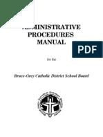 Admin Proc Manual