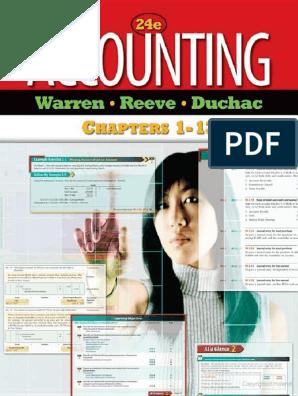 Accounting By Carl S Warren James M Reeve Jonathan Duchac Pdf