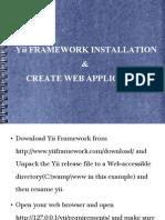 Yii FRAMEWORK INSTALLATION & CREATE WEB APPLICATION