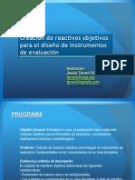 03 Presentación taller creación de reactivos objetivos 2