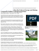 poisoning the well how the feds let energy and mining companies pollute underground water