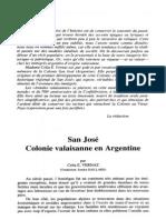 Vernaz. San José Colonie valaisanne en Argentine.