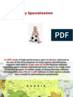 Sports Early Specialization