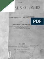 Peyret. Una visita a las colonias de la República Argentina (francés)