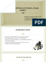 Voice Controlled Wheel-chair Robot Ppt