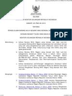 Peraturan Menteri Keuangan Republik Inoonesia
