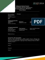 Formulir Pendaftaran Berani Beda Staff 2014