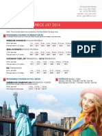 New York Pricelist