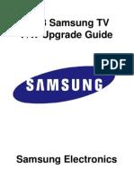 2013 Samsung TV Firmware Upgrade Instruction