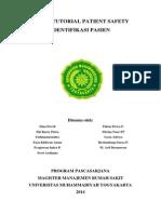 Tugas Tutorial Patiens Safety kEL.2- Identifikasi Pasien