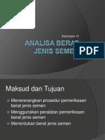 Analisa Berat Jenis Semen Fix.ppt
