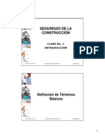 CLASE No. 1 - SEGURIDAD DE LA CONSTRUCCIÓN