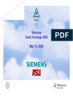 TUV Siemens Solar Exchange 05 19
