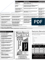 2009 Main Street Forum - Schedule & Registration[1]