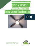 Analisis e Instalacion de Ventiladores Techo