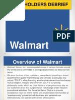 Walmart Stockholder Debrief