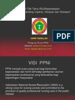 Urgency Uu Keperawatan Pp Ppni 2010 Medan