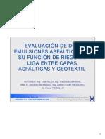 1 Evaluacion Dos Emulsiones Asfalticas en Su Funcion de Riego de Liga