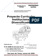 Proyecto Curricular Institucional Multigrado_San Juan de Taray