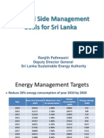 Demand Side Management Goals for Sri Lanka