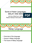 Malay and Iban Languages