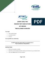 Jetset Level 2 Reading Sample (Jet Version)