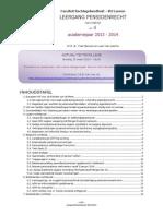 Nieuwsbrief 4 - Leergang Pensioenrecht 2013-2014