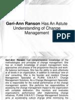 Geri-Ann Ranson Has An Astute Understanding of Change Management